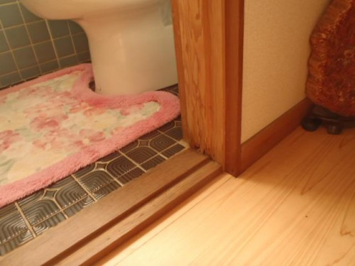 トイレの柱の白蟻食害